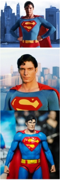 Three faces of Christopher Reeves